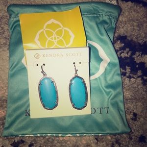 Kendra Scott turquoise and silver Ella earrings